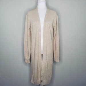 NEW Theory Linen & Cashmere Open Front Cardigan